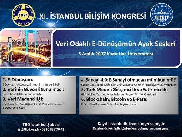 11. İstanbul Bilişim Kongresi 6 Aralık'ta gerçekleşecek