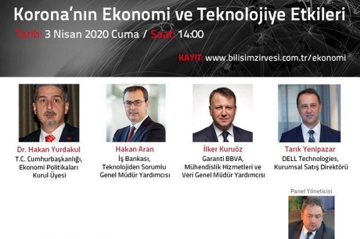 Korona'nın Ekonomi ve Teknolojiye Etkileri dijital oturumu 3 Nisan'da