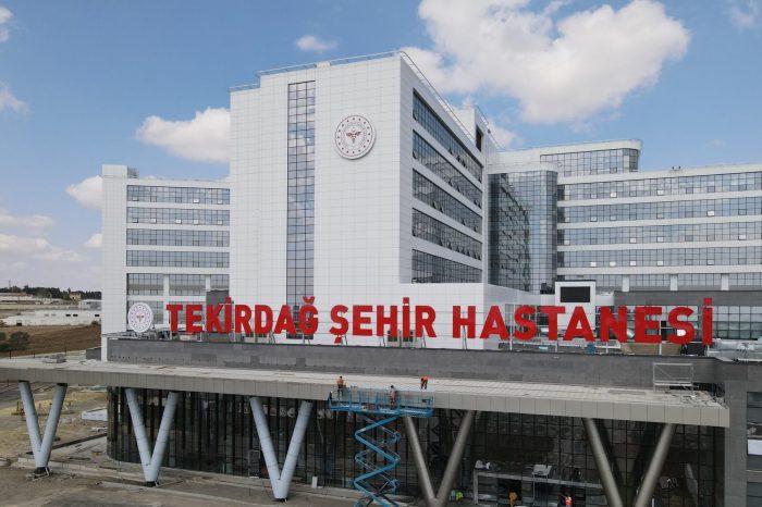 486 yataklı Tekirdağ Şehir Hastanesi hizmete girmek için gün sayıyor