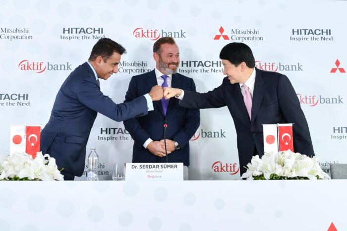Aktif Bank, Hitachi and Mitsubishi Corporation joined forces