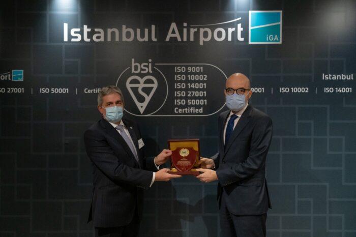 İstanbul Havalimanı, 'Kalite, Müşteri Memnuniyeti, Çevre, Bilgi Güvenliği ve Enerji Yönetimi'nde Uluslararası Sertifikalara Layık Görüldü