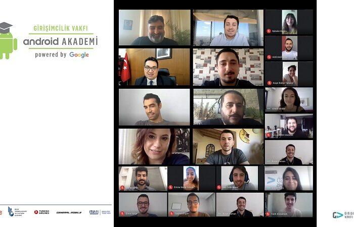 Android Akademi'de San Francisco için yarışan 17 takım sürece online eğitimlerle devam ediyor
