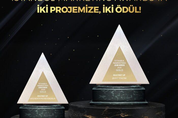 İstanbul Marketing Awards'tan Multinet Up'a iki kategoride gold ödül!