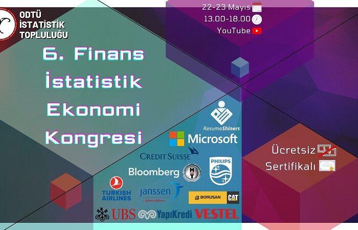 6. Finans İstatistik Ekonomi Kongresi için Geri Sayım