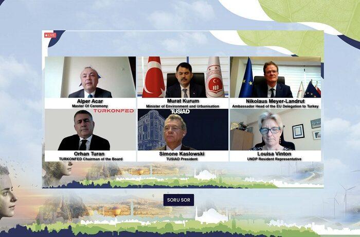 """Avrupa Yeşil Mutabakatı'nın temel mesajları """"Avrupa Yeşil Mutabakatı-İklim Nötr Hedefi için İş Dünyası Çabaları"""" webinarında gündeme getirildi"""
