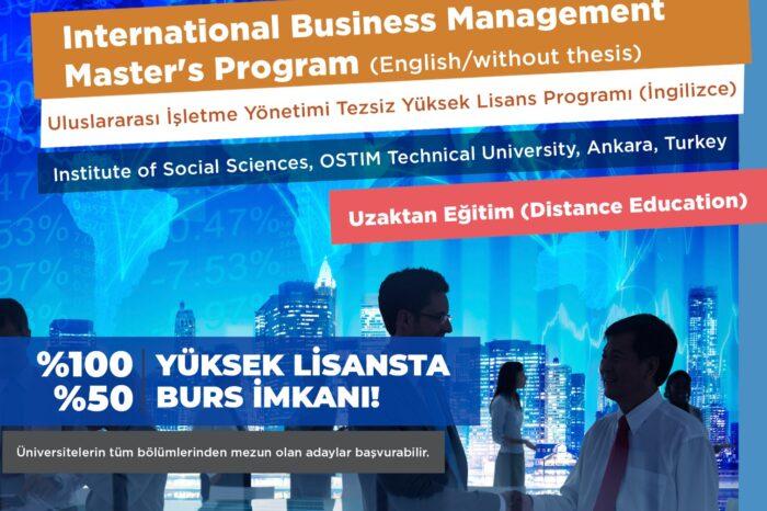 OSTİM Teknik Üniversitesi Yüksek Lisans Programları Başvuruları Başladı!