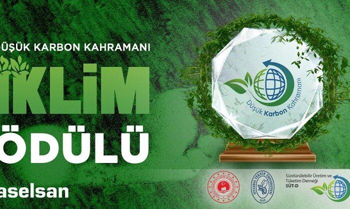 'İstanbul Karbon e-Zirvesi'nde ASELSAN'a iklim ödülü verildi